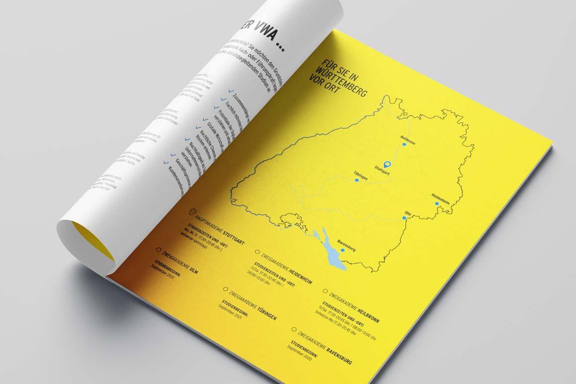 Broschüren Design Karte